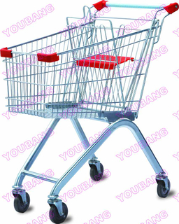 Supermarket Shopping Trolley with Babyseat